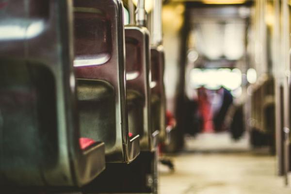aisle of subway car