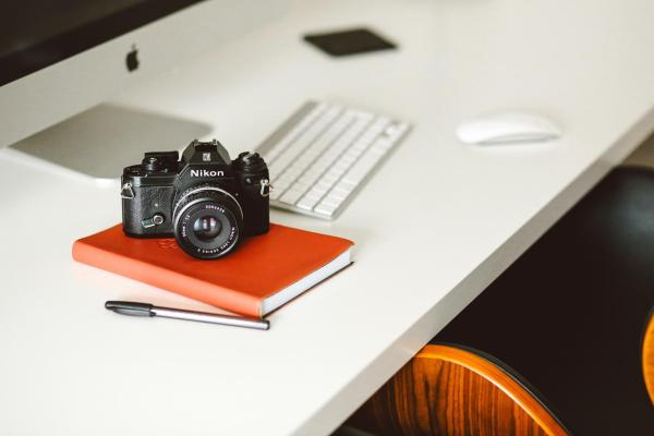 camera on a desk