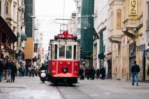 red trolley car