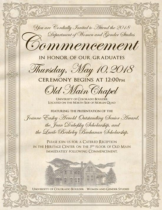Commencement Invitation