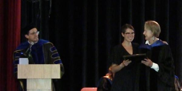 Jacqueline Tillman receiving scholarship award