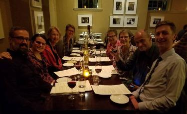 Induction into AAAS – A dinner celebrating Alison's into the American Academy of Arts and Sciences (with former PhD students Jason Wyckoff and Annaleigh Curtis, her daughter Sumita, philosophers Steven Yablo, Sally Haslanger, Charles Mills, and her son Dylan