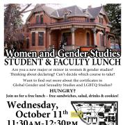 Student Faculty Lunch